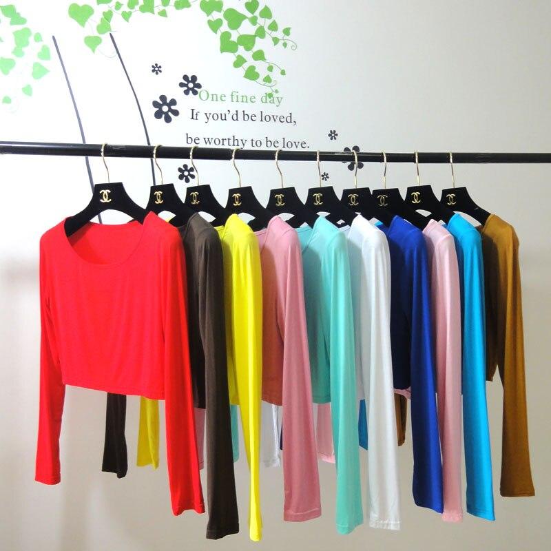 (20 Teile/los) Muslimischen Long Sleeves Half-length T-shirts Können Farben Wählen Om403