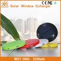 SUNEVER солнечное зарядное устройство универсальное солнечное зарядное устройство внешнего резервного питания 5200 мАч powerbank с присосками круглый власти банк