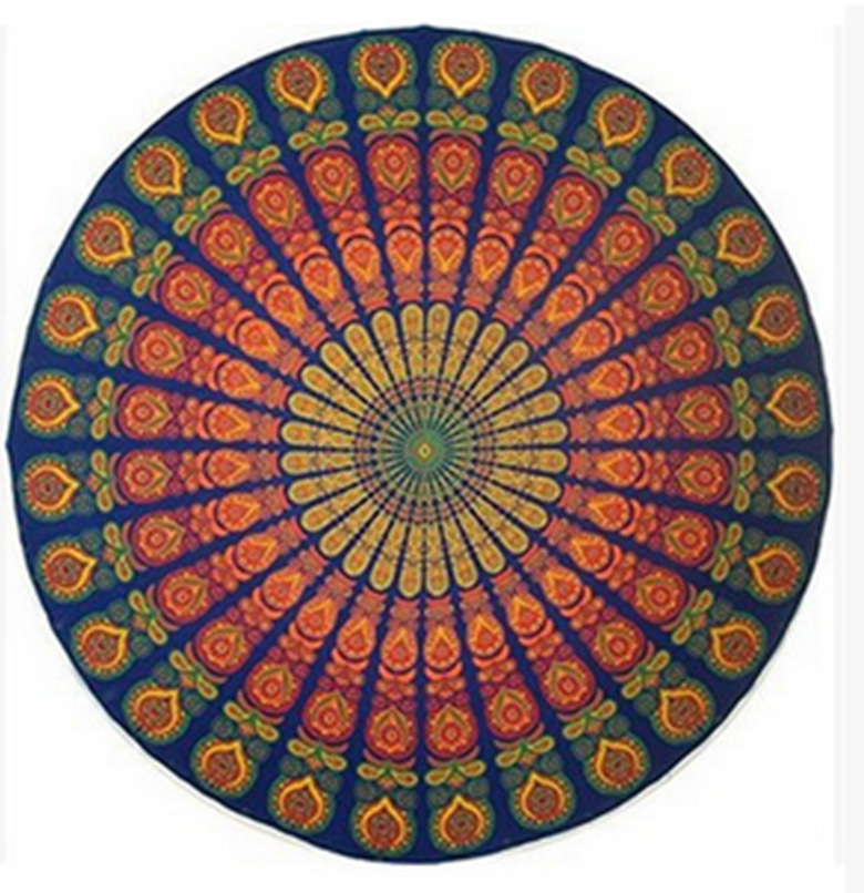 Image 2 - Psychedelic Mandala Hippie Bohemian Tapestries Wall Hanging Flower Psychedelic Tapestry Indian Dorm Decor for Living Room-in Tapestry from Home & Garden