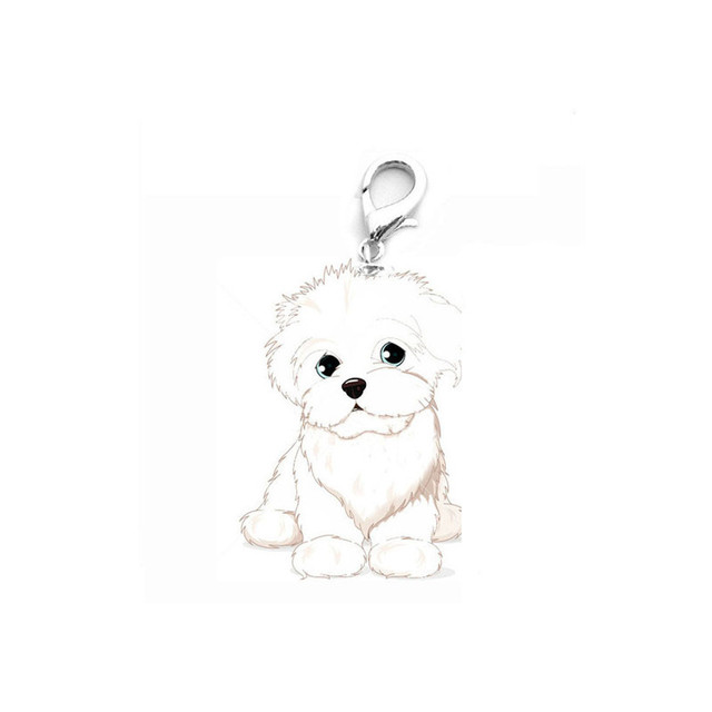 newest bichon frise mini pet cat dog jewelry pendant tags alloy