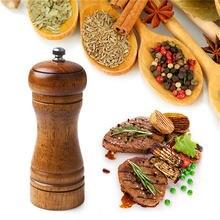 Дубовая древесина ручная мельница для соли и перца приправа