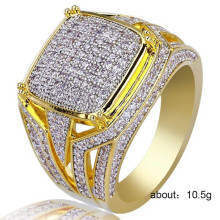 1 PC Hip-hop series fashion shiny zircon ring unisex street accessories Accessories Jewelry Direct