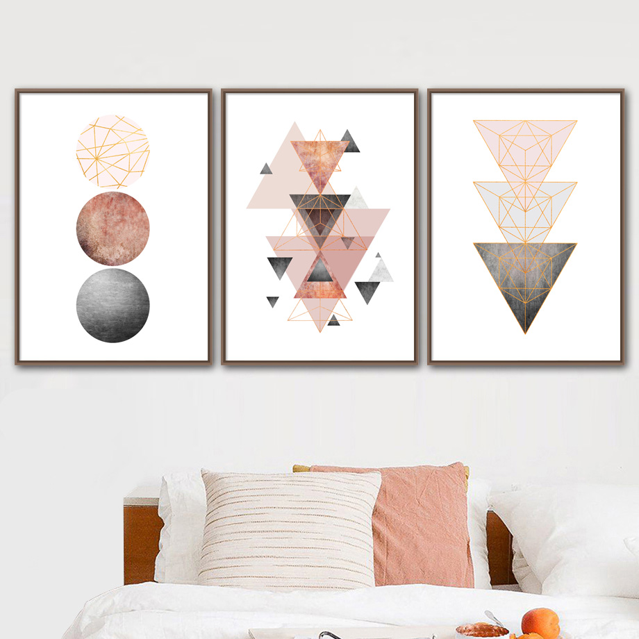 Geometric Round Arrow Wall Art Canvas Painting Posters And Prints Abstract Paintings For Living Room Pictures Nordic Decor