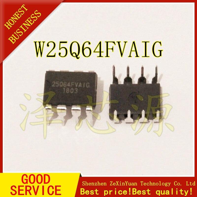10PCS  W25Q64FVAIG DIP W25Q64 DIP8 25Q64 DIP-8 25Q64FVAIG Best Quality