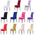 Strech Spandex Cubiertas de la Silla de comedor Comedor cadeira Protector Decoración housse Funda de silla para sillas silla hueso gorras