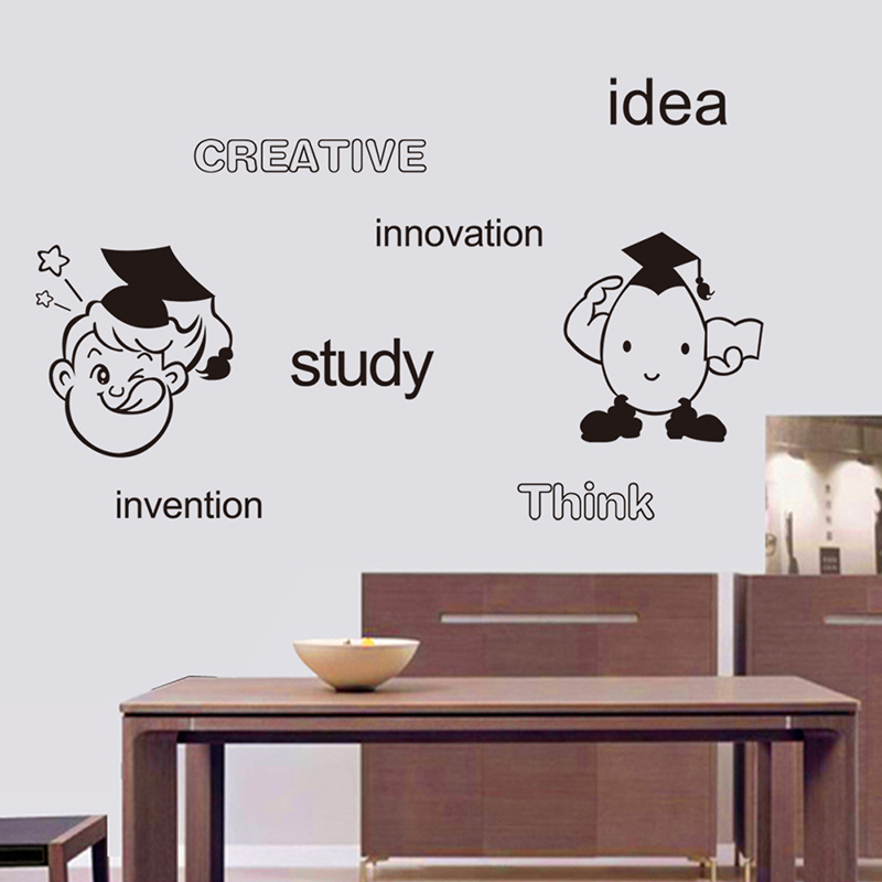 Funny Study Think Innovation Letter Words Vinyl Wall