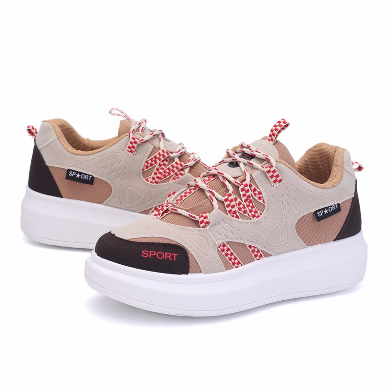 KUYUPP 2016 Autumn Fashion Women Flat Platform Shoes Sport Casual Shoes For Mens Trainers Lace Up Low Top Shoes Breathable YD111 (50)