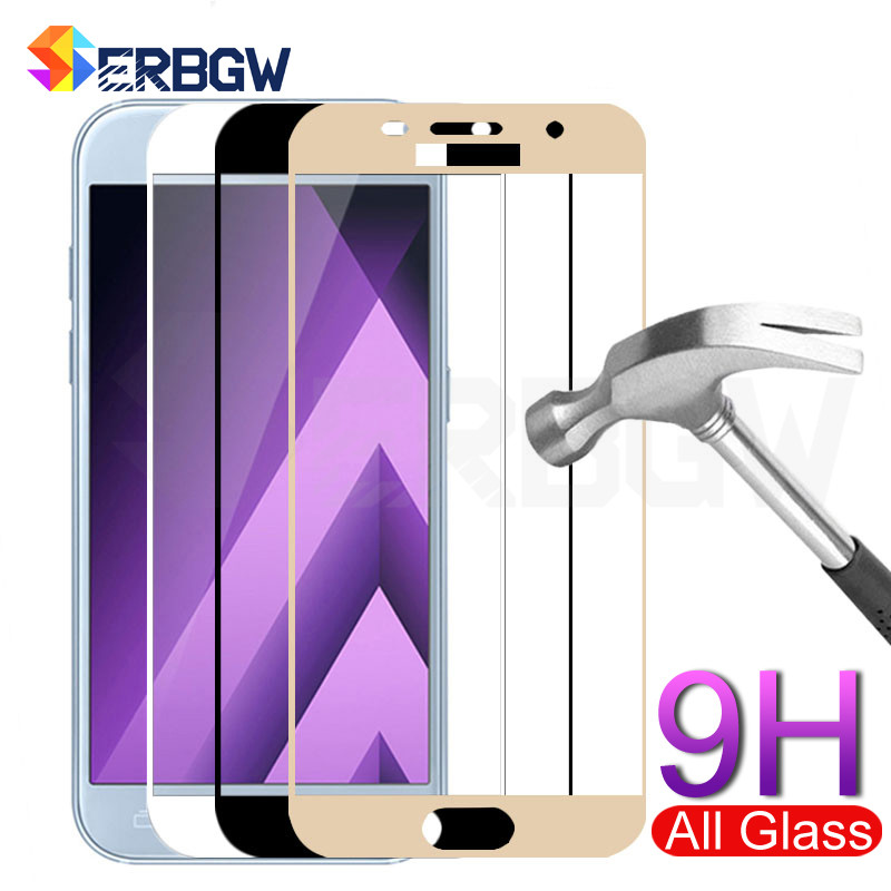 protective glass on the for samsung A5 A7 A3 2017 J3 J5 J7 2016 2017 tempered glass For Samsung S7 Screen protector film case-in Phone Screen Protectors from Cellphones & Telecommunications