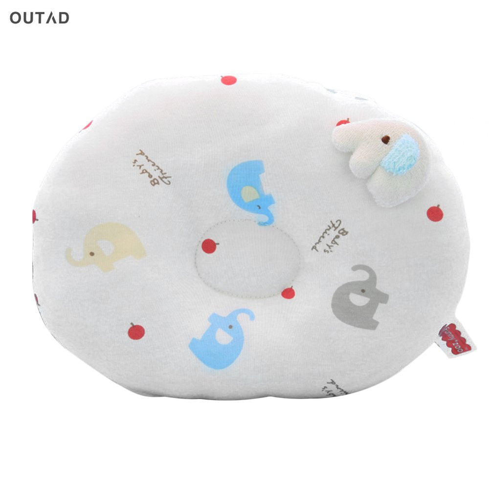 OUTAD New Baby Shaping Pillow To Finalize Baby Design Pillow Correct The Flat Head Baby Care Washable Infant Soft Feeding Pillow