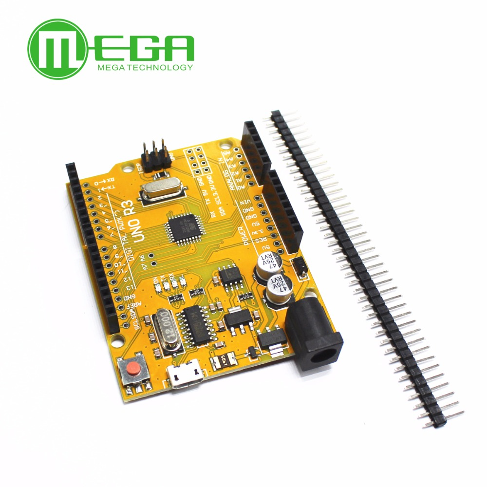 Image 2 - 1set UNO R3 MEGA328P CH340G NO  USB cable  Blue or Yellow for your choice-in Integrated Circuits from Electronic Components & Supplies