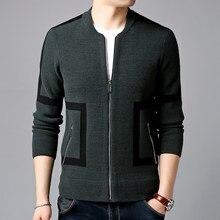 dbc7bd46d 2019 nueva marca de moda suéter para hombre chaqueta gruesa Slim jerséis  Knitred Grado Superior otoño coreano estilo Casual ropa