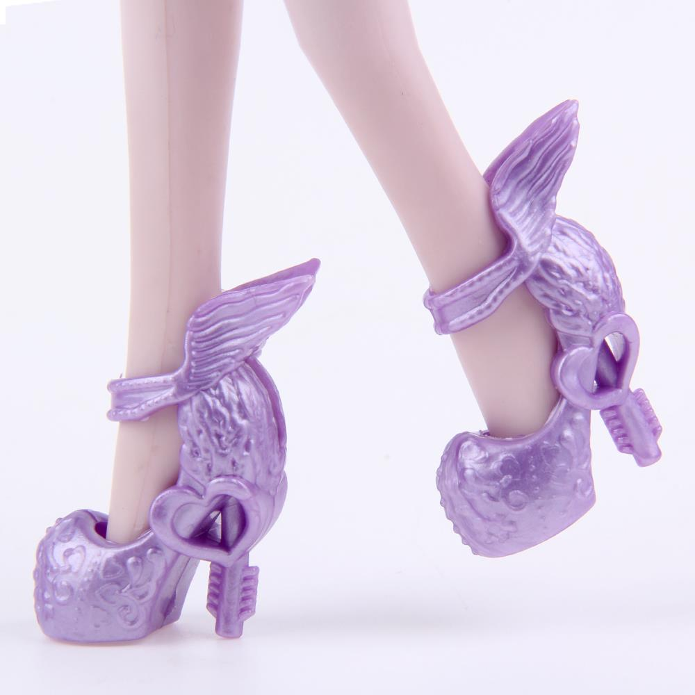 A Lot=10 pair Fashion Shoes Randomly Pick for Original Monster Dolls Monster Hight Acces ...