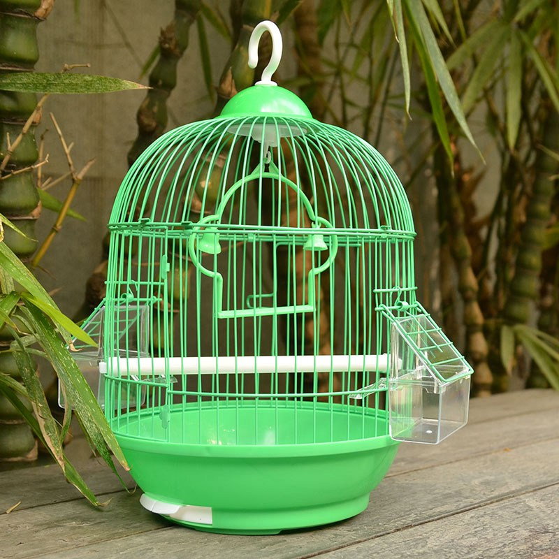 small bird cage round pet parrot finch hanging birdcage decorative bird cages weddings hamster. Black Bedroom Furniture Sets. Home Design Ideas