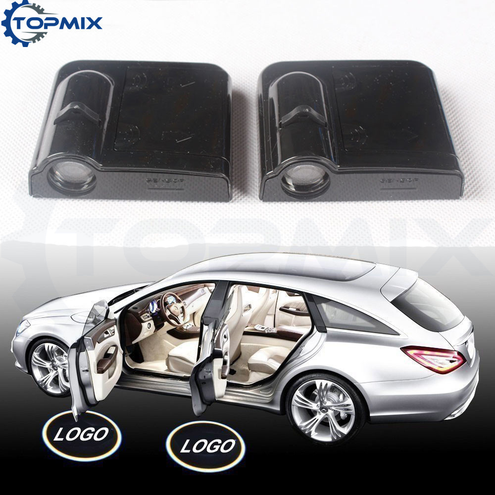 2pcs Wireless Ghost Shadow Light Welcome Laser Projector Lights LED Car Logo lamps universal for Ford Mustang for skoda octavia led 3w welcome car door logo lights projector laser ghost 3d shadow accessories original door light replace