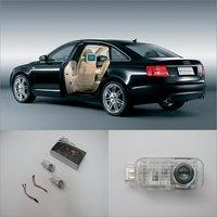 Porta de carro Bem-vindo Luz Sombra LEVOU Logotipo Projetor Laser Para Audi A6L (2.0) 2012 ~ 2014 Luzes de Cortesia das Portas Acessórios Peças