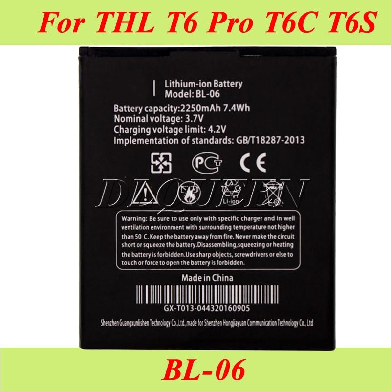 imágenes para 10 UNIDS/LOTE Para THL T6s Batería para THL T6 Pro T6 Batería Batería Acumulador AKKU 2250 mAh BL-06