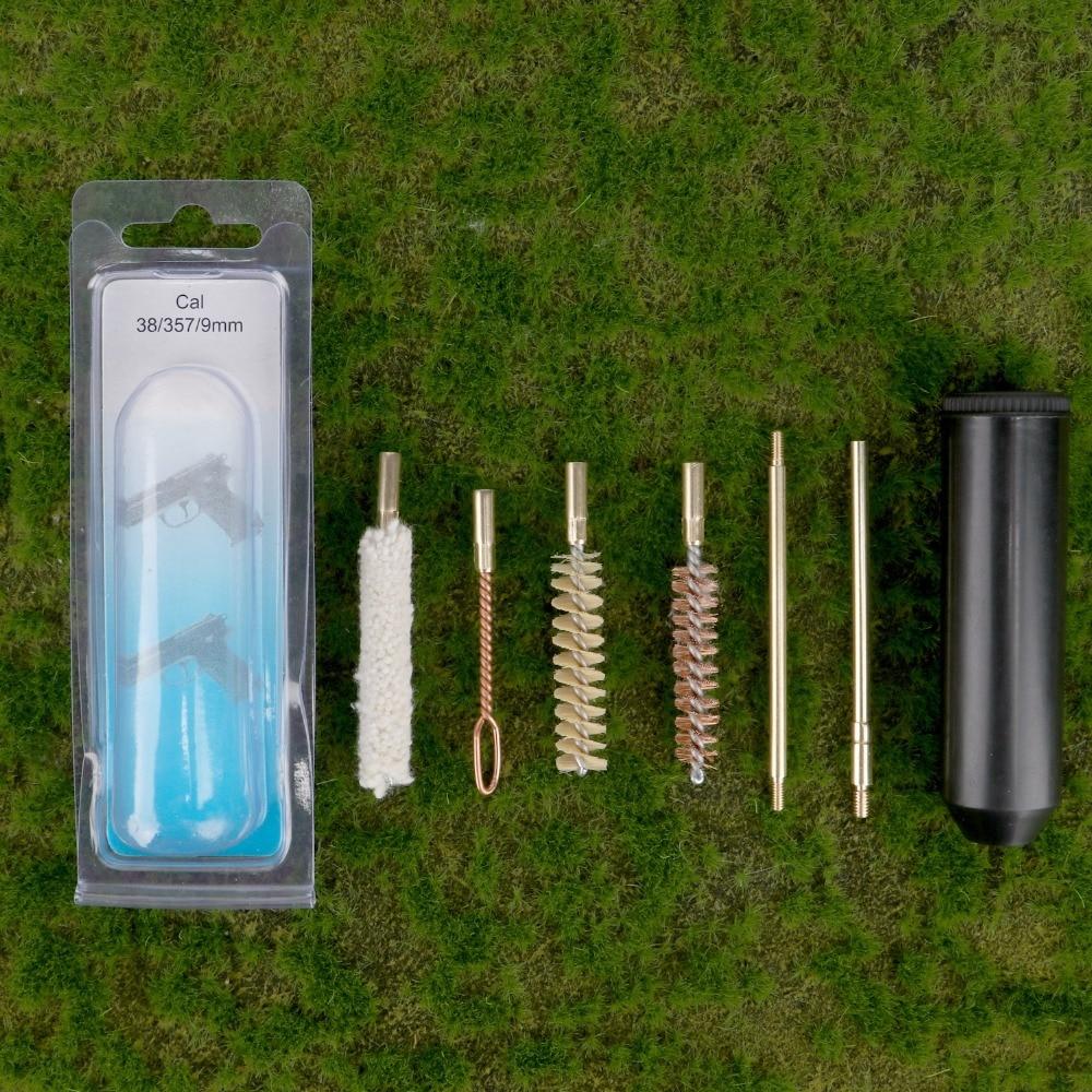 Tourbon Universale Gun Cleaning Kit per Pistola Cal 38/357/9mm Pistola Piccola Pistola di Pulizia Kit di Accessori Valigetta Di plastica