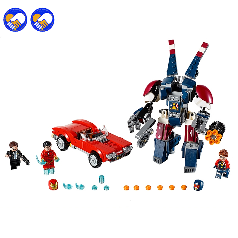 A toy A dream 10674 Bela Marvel Super Heroes Iron Man Detroit Steel Strikes Coulson Building Block Bricks Toys Gift For 76077
