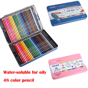 48colors Mu Hui-soluble Colored Pencil lapis de cor profissional Brand Safety Non-Toxic Prismacolor Color Pencils for oily