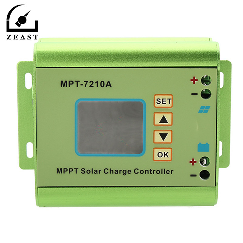 Numérique LCD Affichage Panneau Solaire Contrôleur de Charge 24/36/48/60/72 V Boost Solaire Batterie contrôleurs MPT 7210A MPPT
