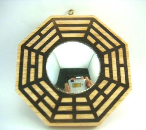 feng shui convexo espejo bagua pakua pulgadas de madera de durazno