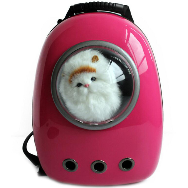 Carrier for Cats Capsule Shaped Breathable Astronaut Backpack Dog Outside Travel Portable Women Cat Cartoon Bags Pet Supplies