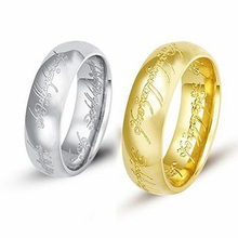 2017 New Tungsten Carbide LOTR Lord of Ring for Women Men Band Wedding Jewelry Cocktail Lover Rings Father Gift anillos A0070