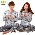 GOPLUS 2016 Nuevo Estilo Pijamas Hombres y Mujeres Pijamas de ropa de Moda Modelo de la Historieta de Manga Larga Pijamas Envío Libre C2072