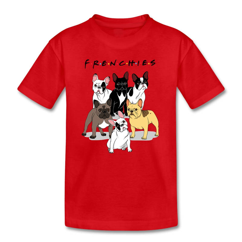 T Shirt Male Hipster Tops Casual O-Neck Short-Sleeve Tee Shirts Frenchies French Bulldog Dog For Men