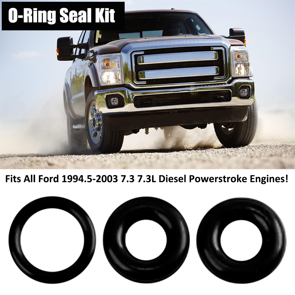 Powerstroke Fuel Filter Bowl Drain Valve Viton O Ring Seal Kit Fits 7 3 Pump All Ford 19945 2003 73 73l Diesel Engines