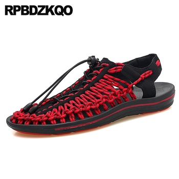 shoes sneakers green strap outdoor red men gladiator sandals summer roman breathable native sport black 2019 closed toe nice