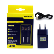 2017 Liitokala Lii402 Lii202 Lii100 18650 Charger 1.2V 3.7V 3.2V AA/AAA NiMH li ion battery Smart Charger 5V 2A EU/US/UK Plug