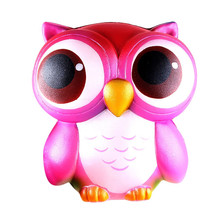 15 см милая розовая Сова крем ароматизированный мягкий медленно растущий сжимающий игрушки Коллекция мягких медленно растущих сжимаемых игрушек Z0402