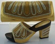 Hohe Qualität African Schuhe Und Taschen Für Hochzeit Frau Sandale Schuhe Mode Italienische Schuhe Und Passende Tasche Set ME2213