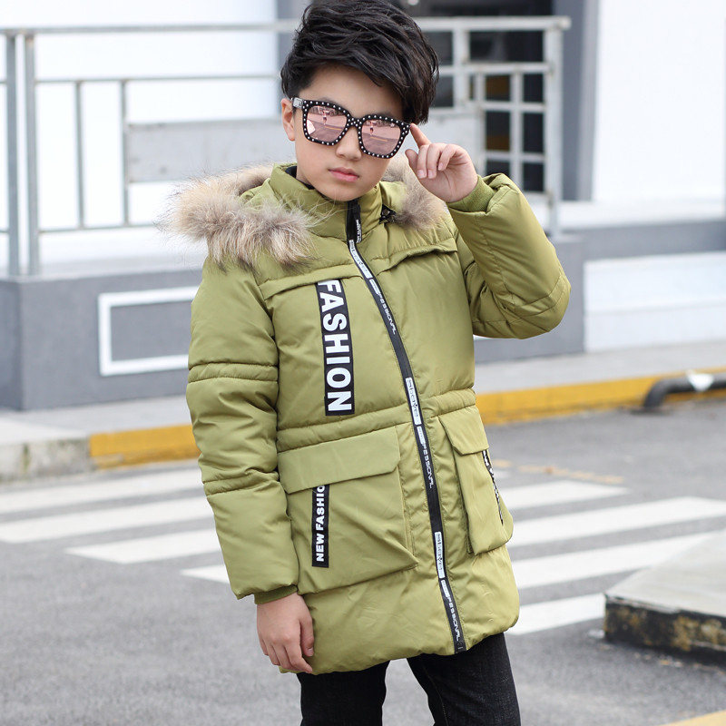 Boys Winter Coat Cotton padded Jacket Outerwear Parka Detachable Hooded Fashion Thick Keep Warm Overcoat For Children new men winter jacket fashion brand clothing cotton padded down parka male thick warm comfortable outerwear coat hood detachable