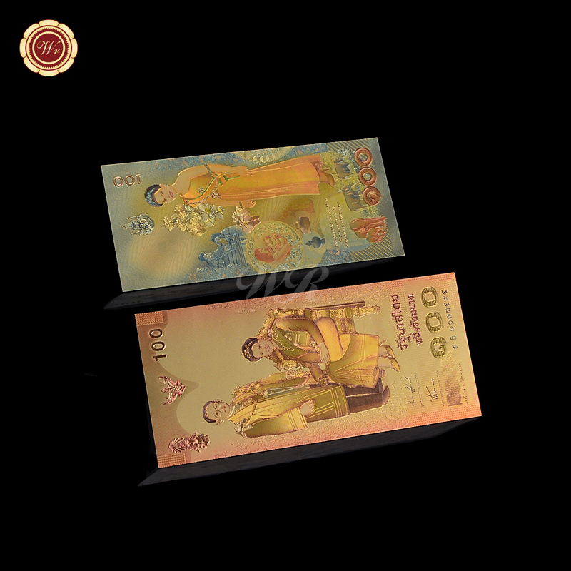 500pcs New Gold Banknote Gold Banknote Queen Sirikits 72nd Anniversary Gold Foil Banknote 100 Baht for Collection500pcs New Gold Banknote Gold Banknote Queen Sirikits 72nd Anniversary Gold Foil Banknote 100 Baht for Collection