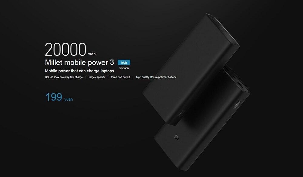 Mi 20000mAh Powerbank 3 Pro