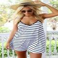 Новые Моды для Женщин Лето Белый Полосатый Платье Горячей Продажи Женщин По Беременности и Родам Платья Партии Пляж Платье Без Рукавов Повседневные Платья Дам