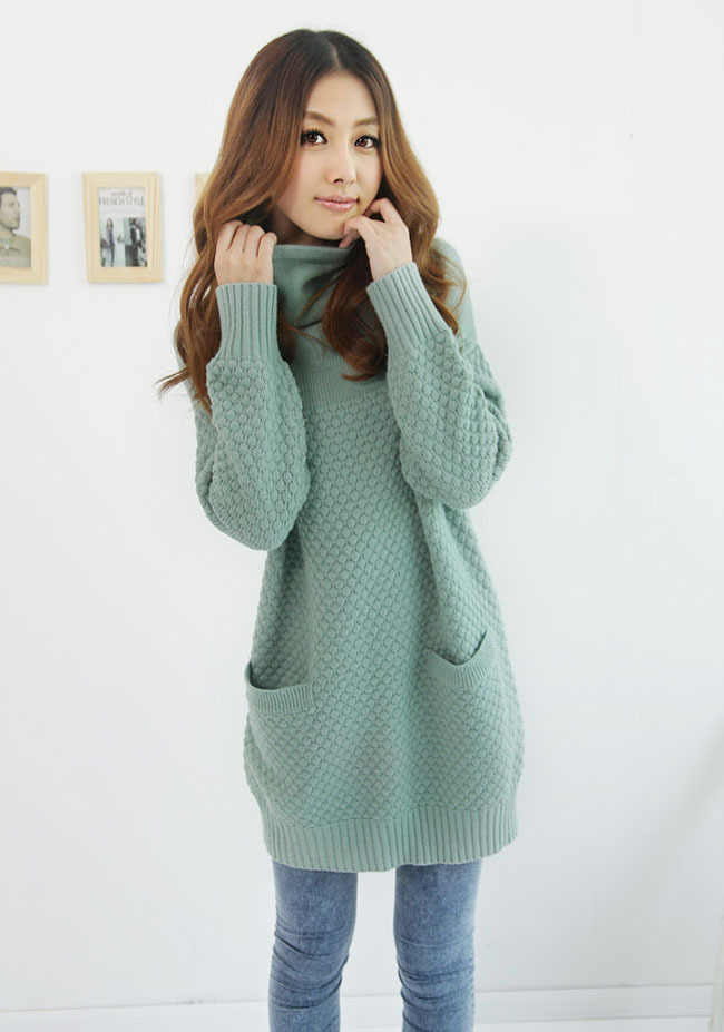 Oversized Women Long Thin Winter Sweaters Knitted Loose Design ...
