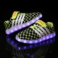 2 Color Fashion children shoes wiht light usb charging breathable 2016 summer rosherun kids LED shoe for boys girls