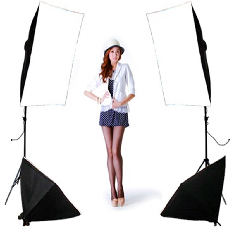 single lamp softbox 4 lamp set photography light softbox kit  Photo Studio Equipment Set photographic equipment  Studio Fix photography lights studio light set photography light box suitcase photo box photographic equipment 50x50cm no00dc