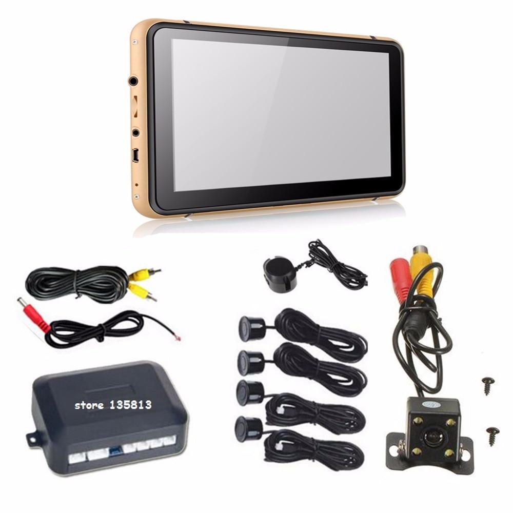 Konnwei 7 дюймов GPS навигатор + заднего вида Камера + видео парковка Сенсор, Bluetooth AV-в GPS, HD CCD Камера