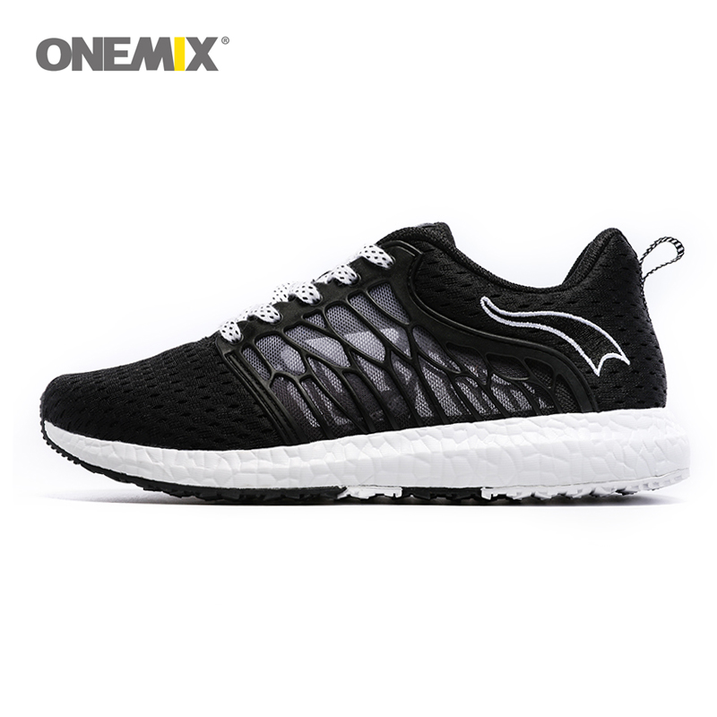 ONEMIX Unisex Løpesko Breathable Mesh Men Athletic Shoes Super Light Outdoor Women Sportsko elskere walking sko