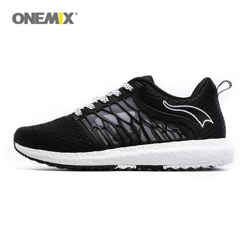 ONEMIX יוניסקס נעלי ריצה נשימה Mesh גברים אתלטי נעליים סופר אור בחוץ נשים נעלי ספורט אוהבי הליכה