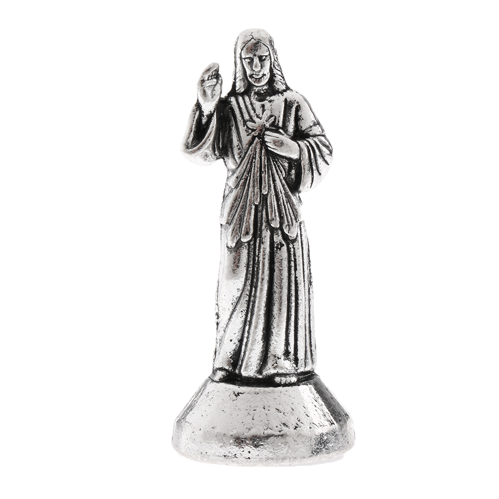 Metal Model Holy Jesus Figure Magnetic Statue Sculpture Art Craft Christian Amulet Gift For Men Women, 5/7cm