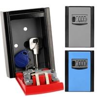 Aluminium Alloy 4 Digit Code Key Storage Box Anti Theft Safety Lock Box Creative Store Valuable Things Password Key Box