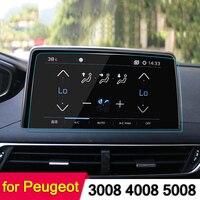 Car GPS Navigation Screen Steel Protective Film For Peugeot 3008 5008 3008GT 4008 2017 2018 Control