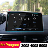 Car GPS Navigation Screen Steel Protective Film For Peugeot 3008 5008 3008GT 4008 2017 2018 Control