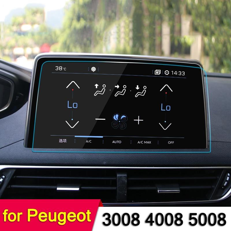 Navigation GPS De voiture Écran Film Protecteur D'acier Pour Peugeot 3008 5008 3008GT 4008 2017 2018 Contrôle de Voiture D'écran D'AFFICHAGE à CRISTAUX LIQUIDES autocollant