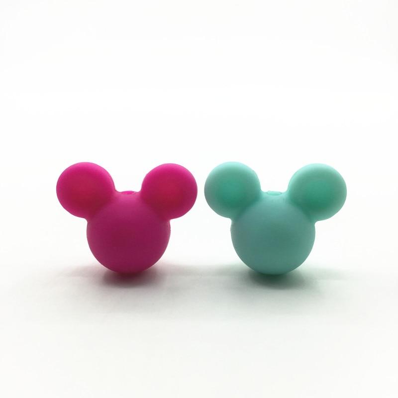 Prix pour Gros Mickey Lâche Perles de Silicone pour la Dentition Collier De Dentition Silicone bricolage Perles Pour Bébé de Dentition BPA Sûr Lâche Perles